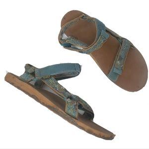Teva sandals original universal blue cactus 12